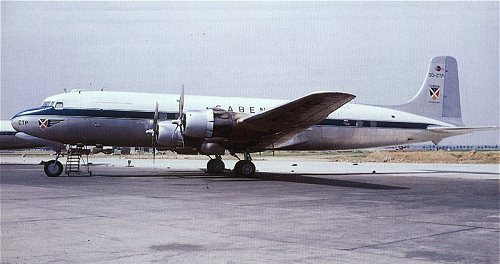 Douglas DC-6B in early SABENA colours