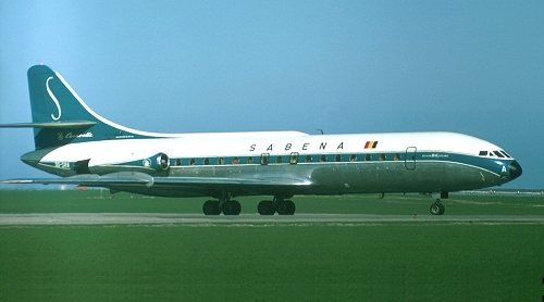 Caravelle OO-SRA in original colours