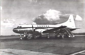 Convair 240 in early SABENA colours