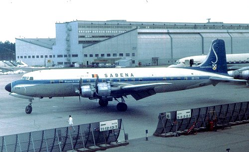 Douglas DC-6B in 1960s SABENA colours
