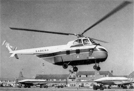 SABENA flew international services with Sikorsky S.55